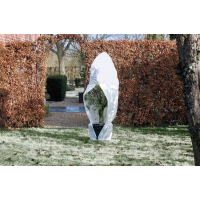 Winterafdekhoes met rits wit Ø250cmx3m 70 g/m²