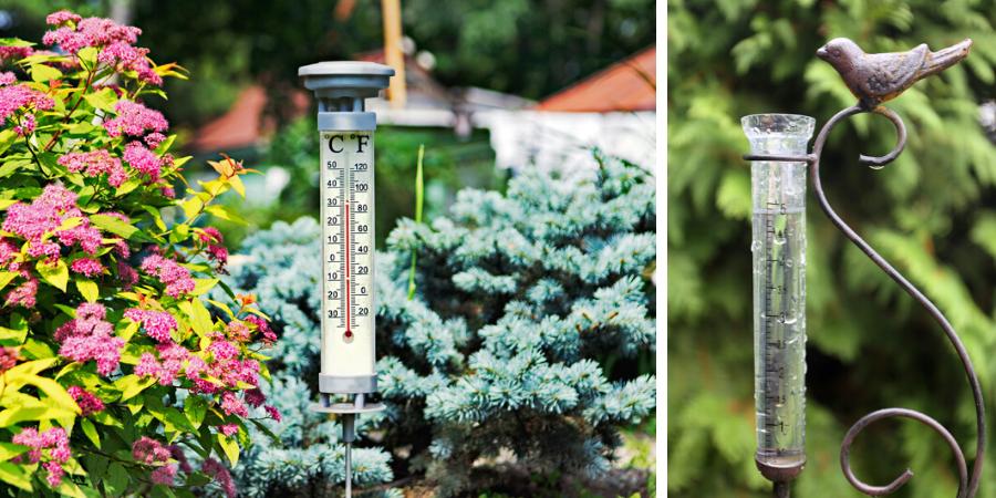 Regenmeter en thermometer online bestellen
