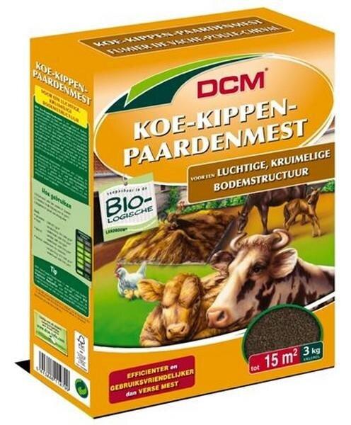 DCM Koe-kippen-paardenmest kruimelvorm 3kg