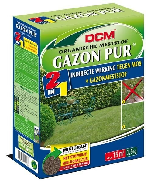 DCM Organische Gazonmest Gazon Pur minigranulaat 1.5 kg