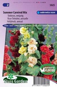 Alcea Rosea - Summer Carnival Mix zaad bloemzaden